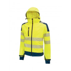 Giacca Miky in tessuto Softshell, stretch, traspirante, antivento e idrorepellente yellow fluo